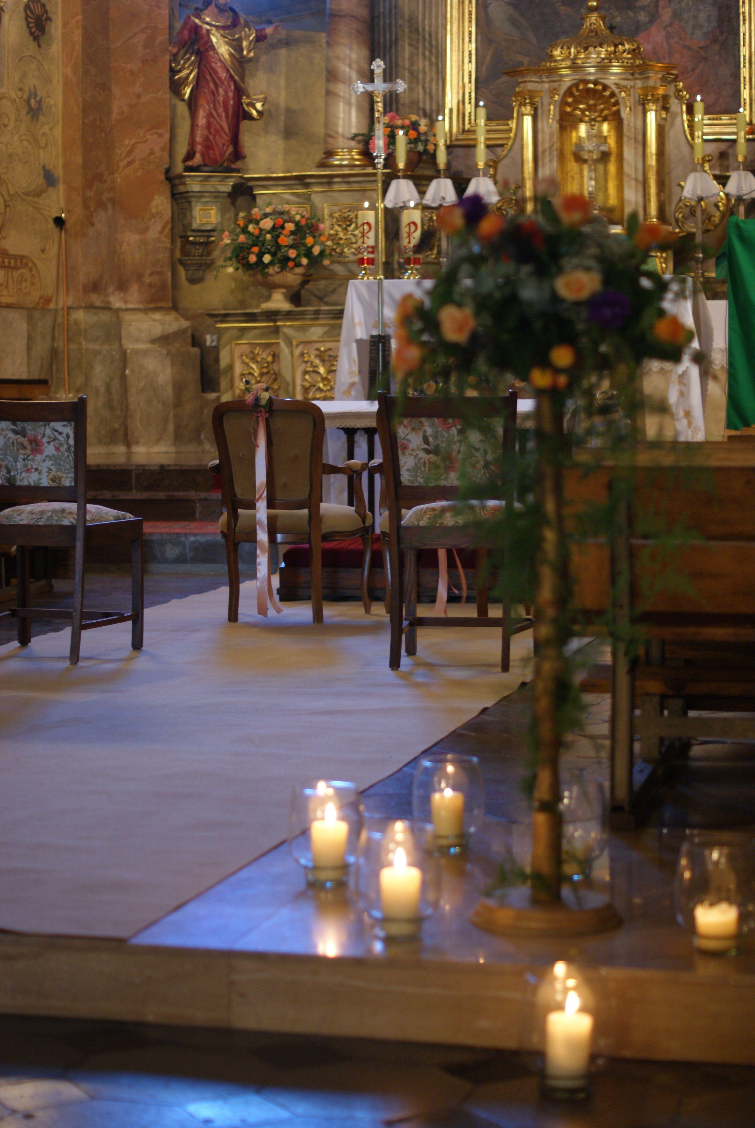 Dekoracje ślubne W Kościele Pw Wnmp W Krzczonowie Rękoczyny
