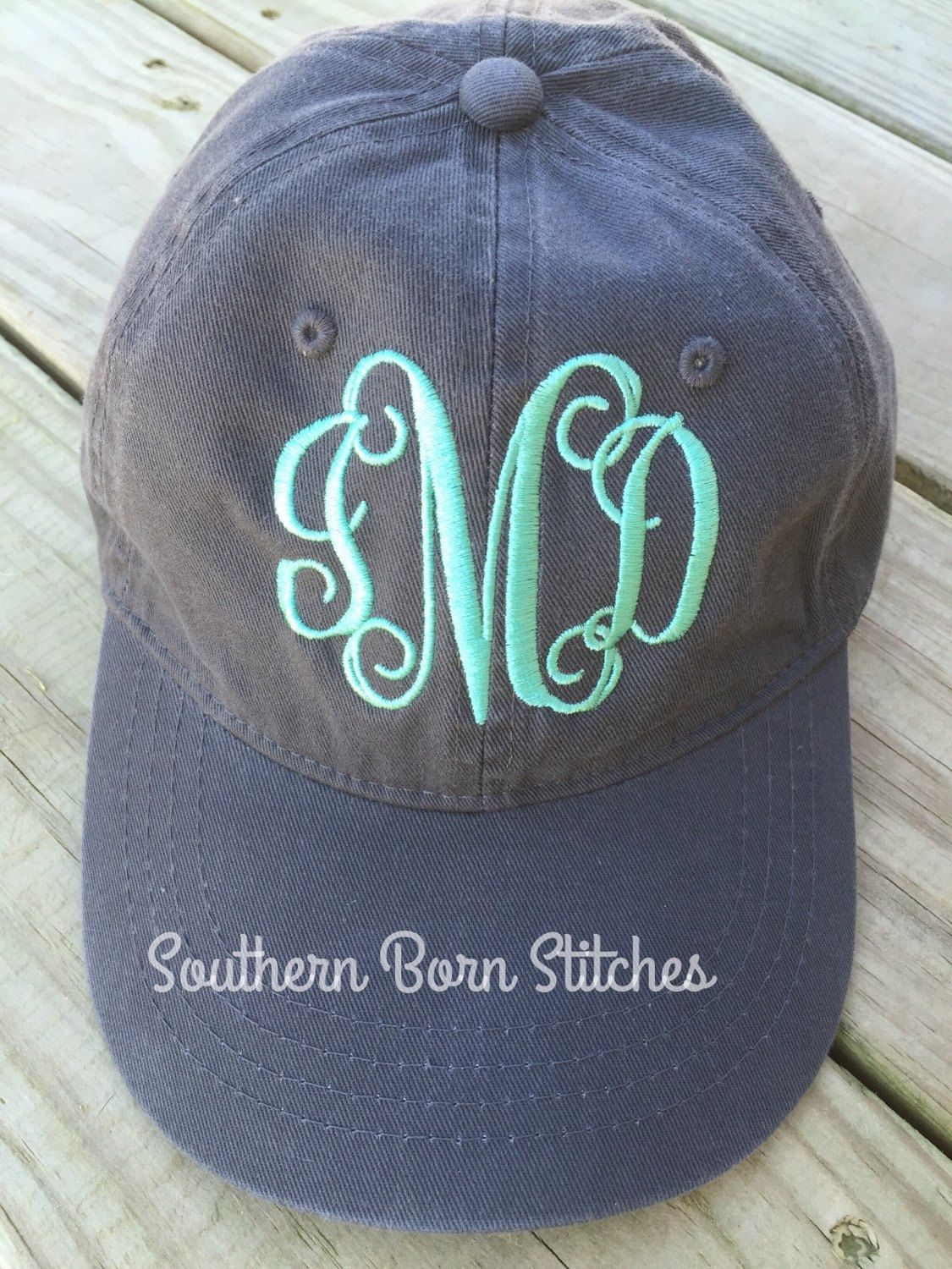 2c748131bde Monogrammed baseball hat women s cap by SouthernBornStitches on Etsy ...
