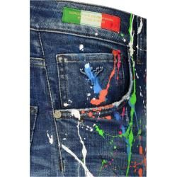 Photo of Jeans with Color-Splashes, Blau-Bunt Carlo Colucci