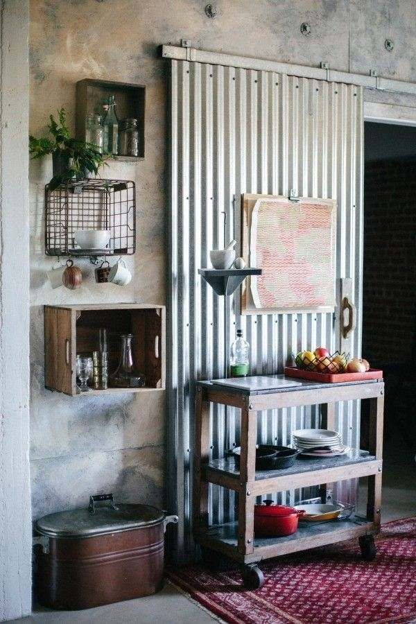 Doors Ideas Corrugated Metal Door Interior Home Decor