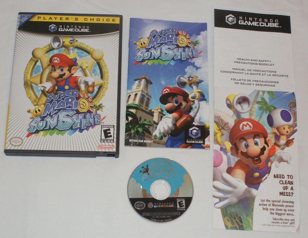 Super Mario Sunshine Nintendo GameCube 2002 100 Complete Manual Inserts