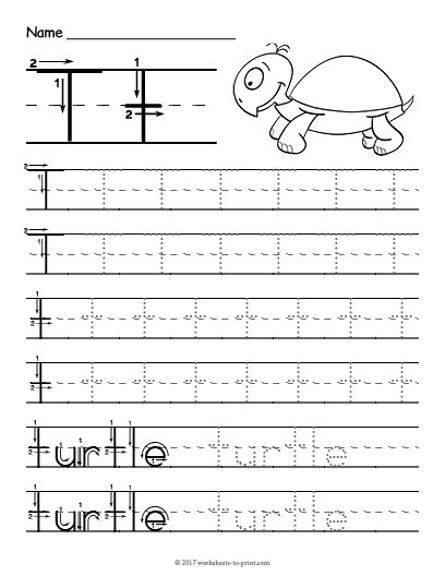 Free Printable Tracing Letter T Worksheet | Tracing Worksheets