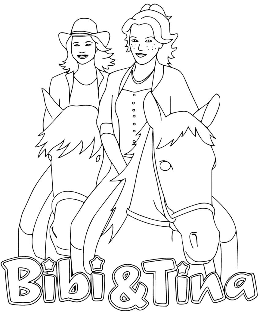bibi und tina ausmalbilder in 2020 (mit bildern