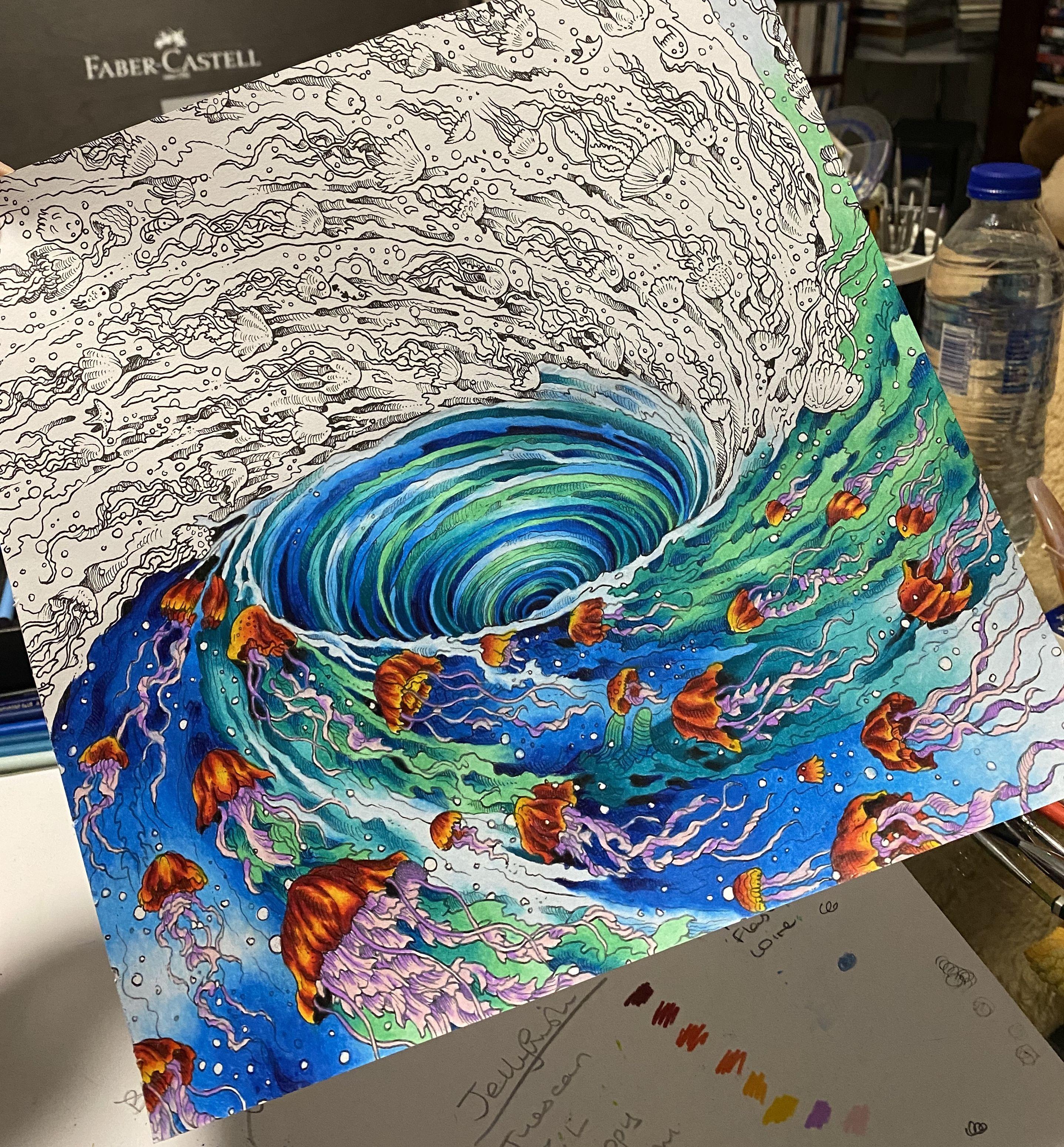 Kerby Rosanes Geomorphia Coloring Book Art Animorphia Coloring Book Color Pencil Art