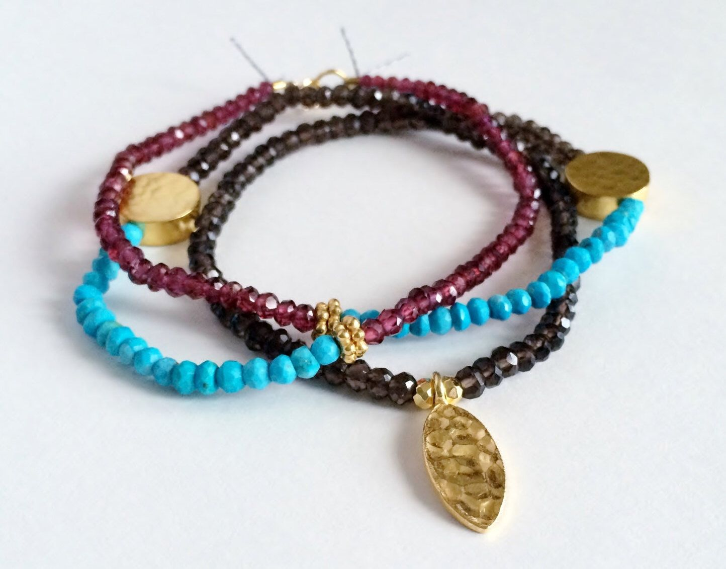 A personal favorite from my Etsy shop https://www.etsy.com/listing/224459843/bohemian-style-multi-gemstone-bracelet