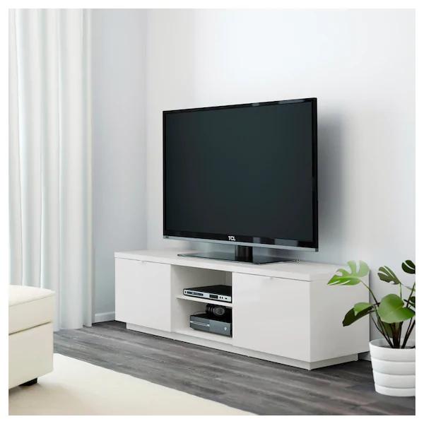 Byas Tv Unit High Gloss White 63x16 1 2x17 3 4 Tv Bench Ikea Tv Ikea Tv Stand