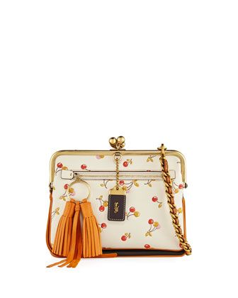 7628e981c933 Cherry-Print Kiss-Lock Crossbody Bag | handbags | Crossbody bag ...