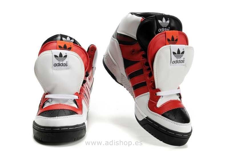 the latest c770e b24a3 Obyo Jeremy Scott JS 3 Lengua Blanco Negro Rojo (Adidas Jeremy Scott)    OFF47%
