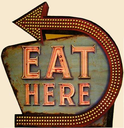 gotta eat here neon lights vintage signs en 2018 pinterest n on signal tique et signs. Black Bedroom Furniture Sets. Home Design Ideas