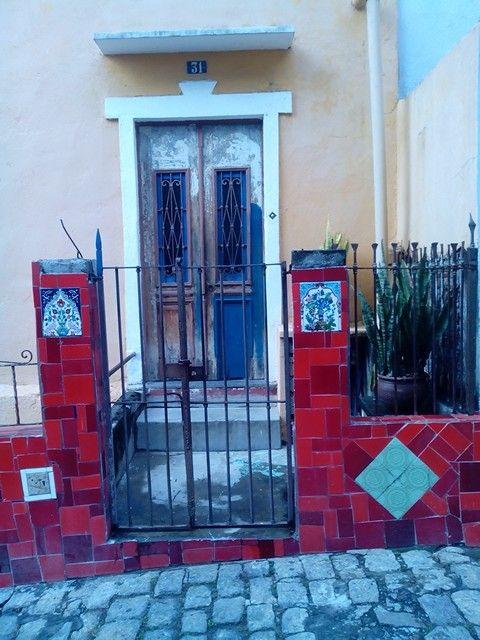 Door on Escadaria do Selaron, Rio de Janeiro