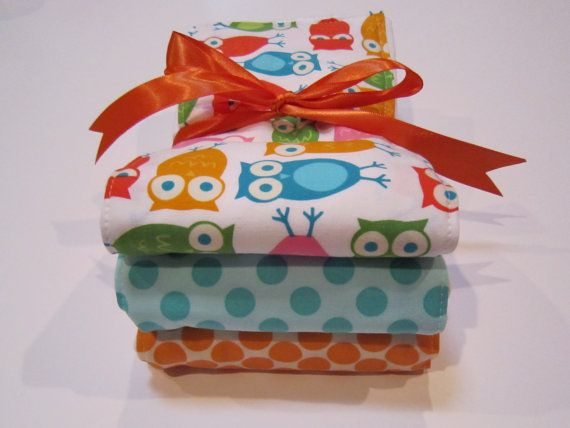 baby burp cloth set by MyRaggyObsession