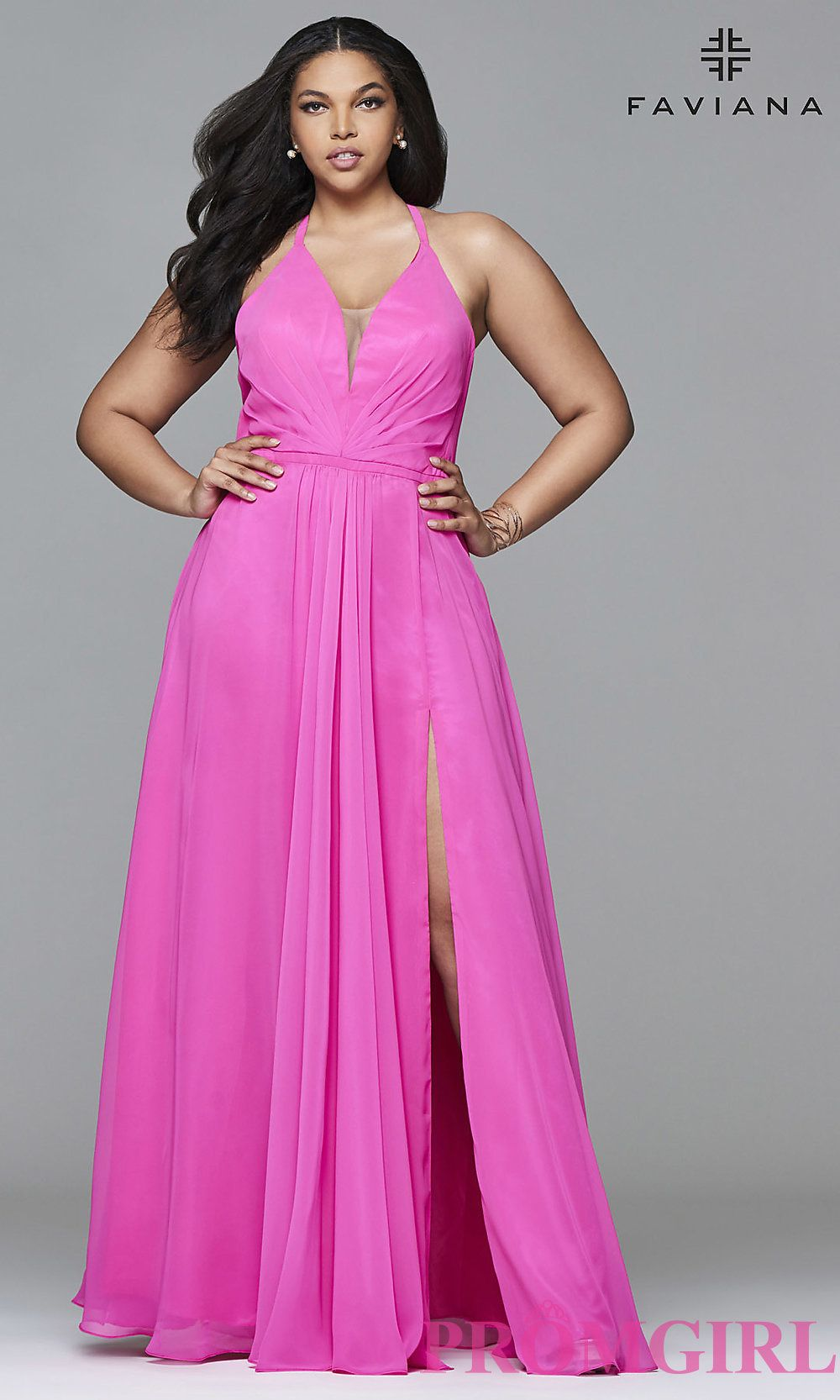Full Figure Dresses And Plus-Size Prom Gowns -Promgirl | Dresses ...