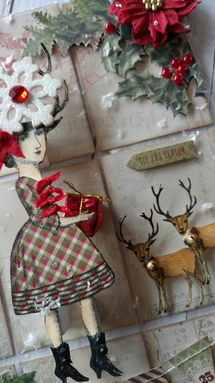 Pocket letter created by Brenda Enright using Character Constructions Doll Stamps by Catherine Moore.