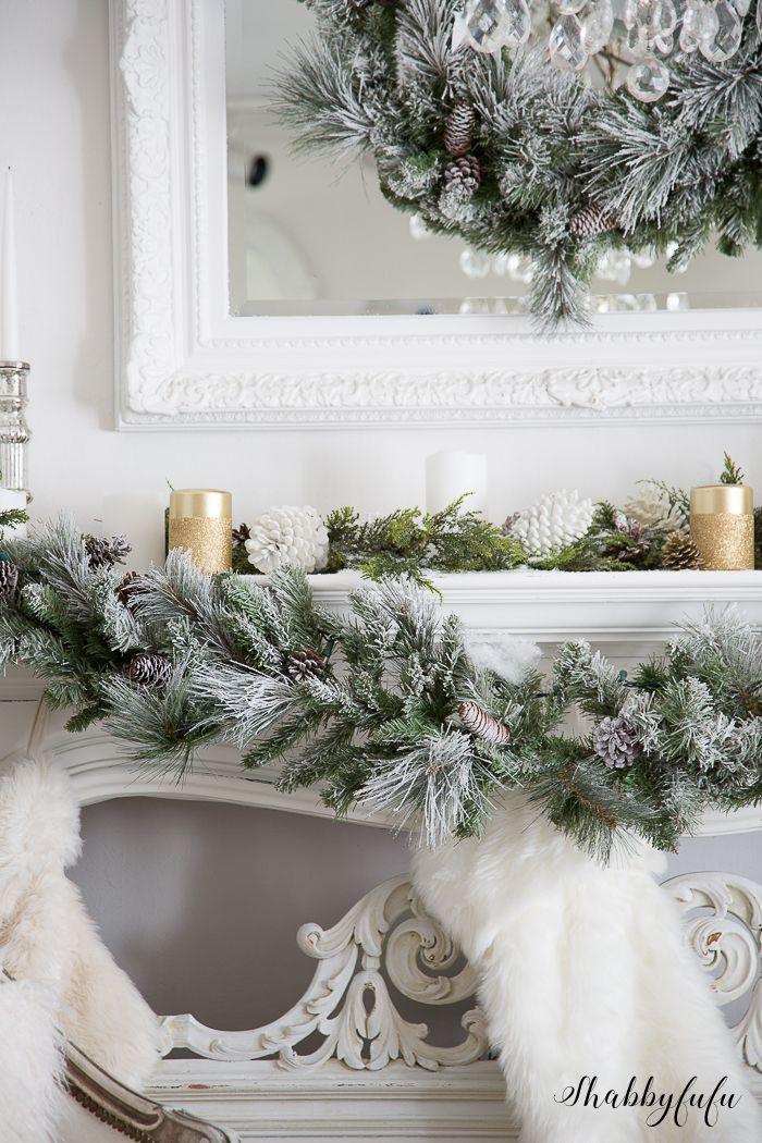 The Most Elegant Glamorous White Christmas Living Room Christmas