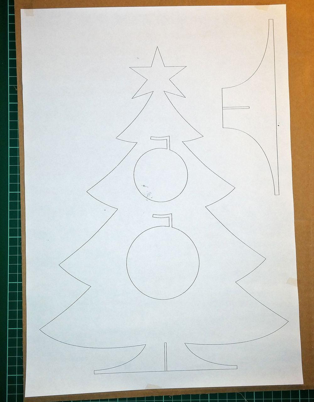 Cardboardchristmastree xmas stuff pinterest free pattern