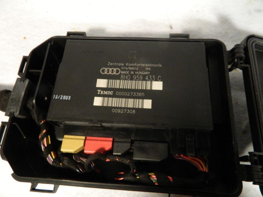 03-09 Audi S4 A4 8H0 959 433 C Comfort Control Module CCM