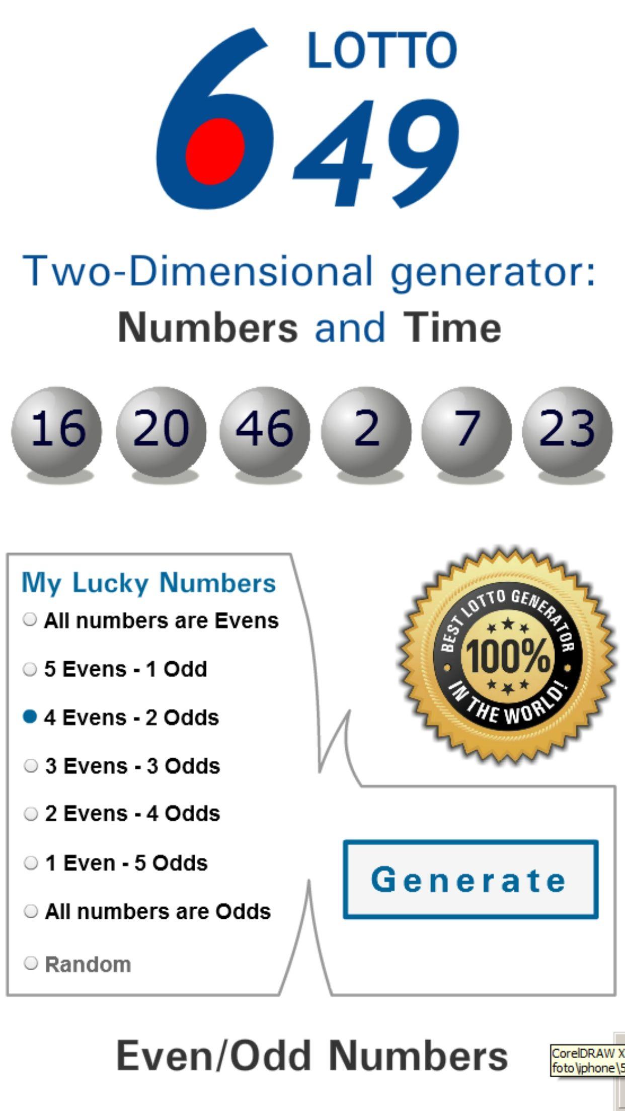Lotto Winner For Canada 6 49