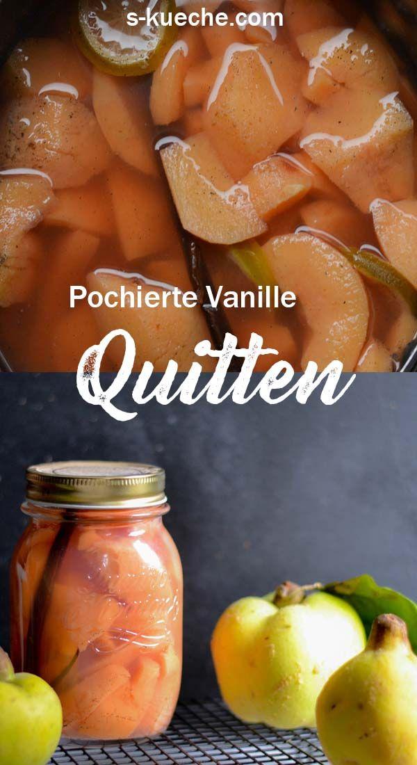 Photo of Pochierte Quitten -Herrlich weiche, süße Quitten für Desserts