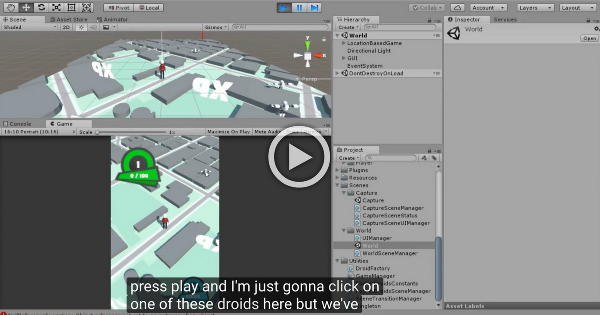 Build a Unity 3D Game with the Mapbox SDK for Unity: PocketDroids GO