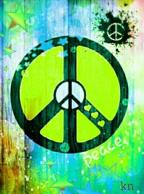 American Hippie Art Peace Sign Art Peace Sign