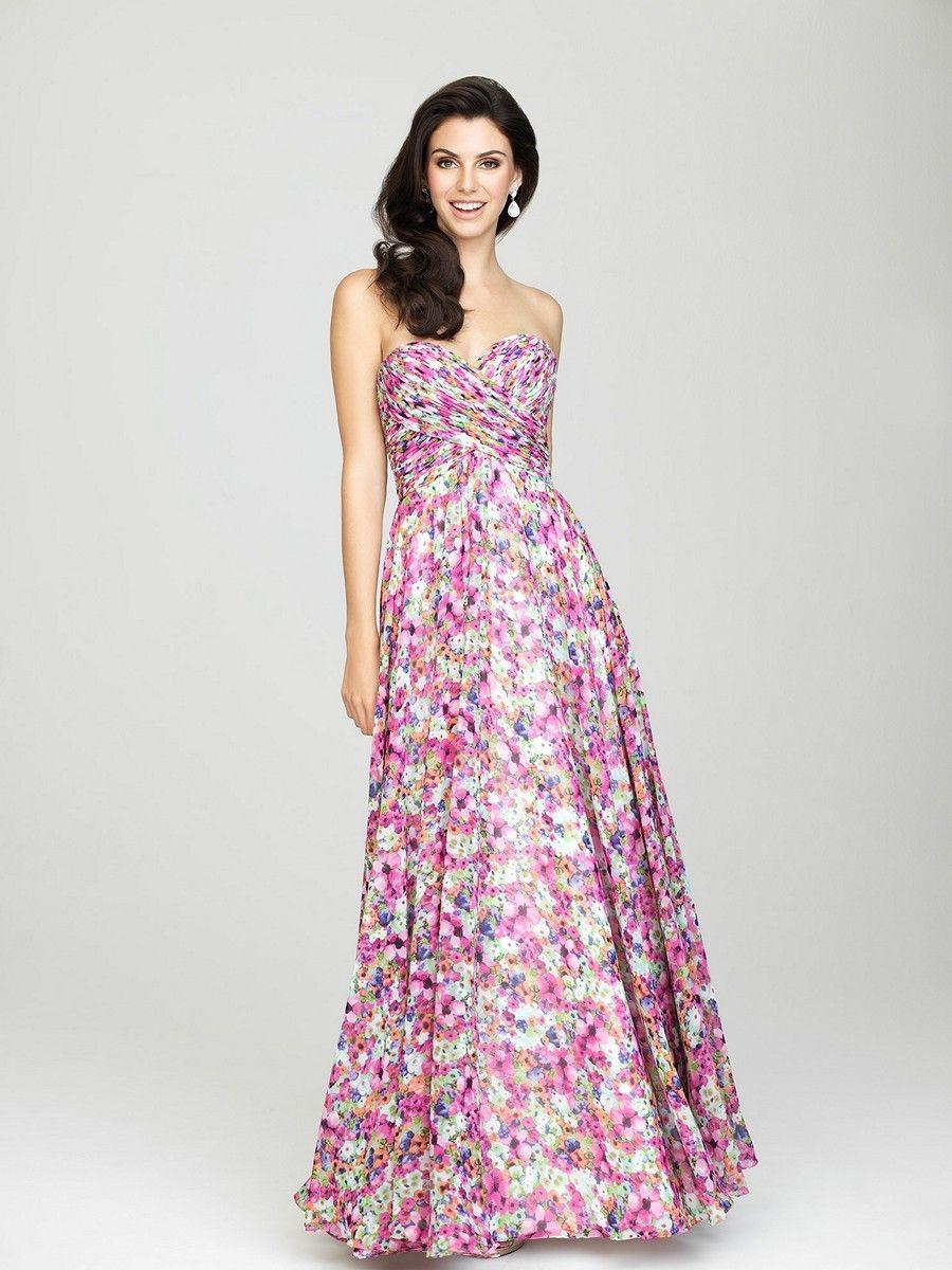 Allure 1440 bridesmaid dress this striking strapless gown sweeps allure 1440 bridesmaid dress this striking strapless gown sweeps to the floor luxuriantly ombrellifo Images