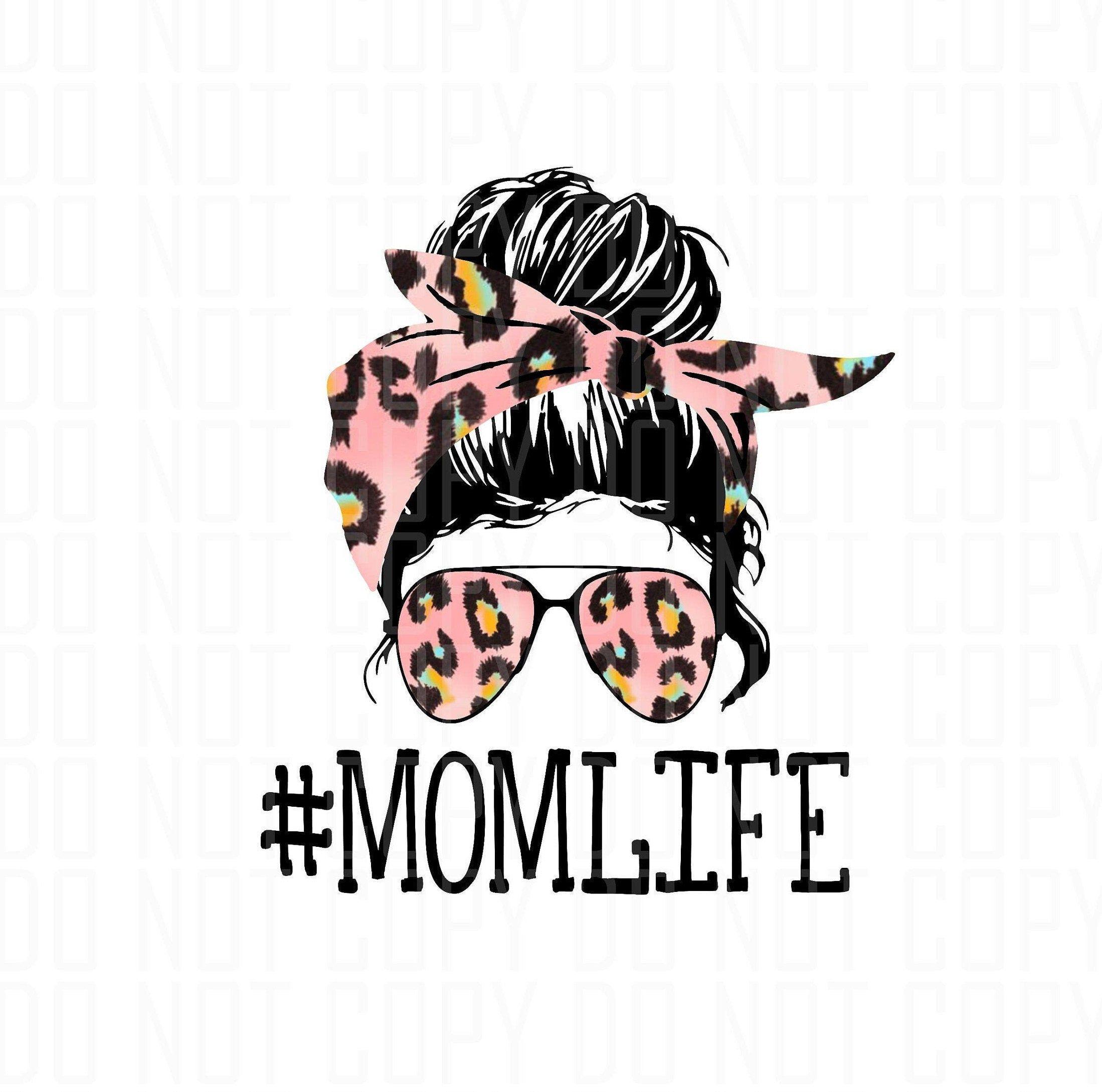 Mom Life Skull svg For Silhouette Mom Life Svg Hair Svg Girl Svg Sublimation png Lady Svg For Cricut Bun Hair svg Woman SVG
