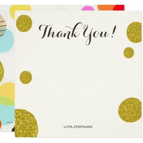 60th Birthday Fun Polka Dots Thank You Card Birthday Thank You Cards Birthday Thank You Thank You Cards