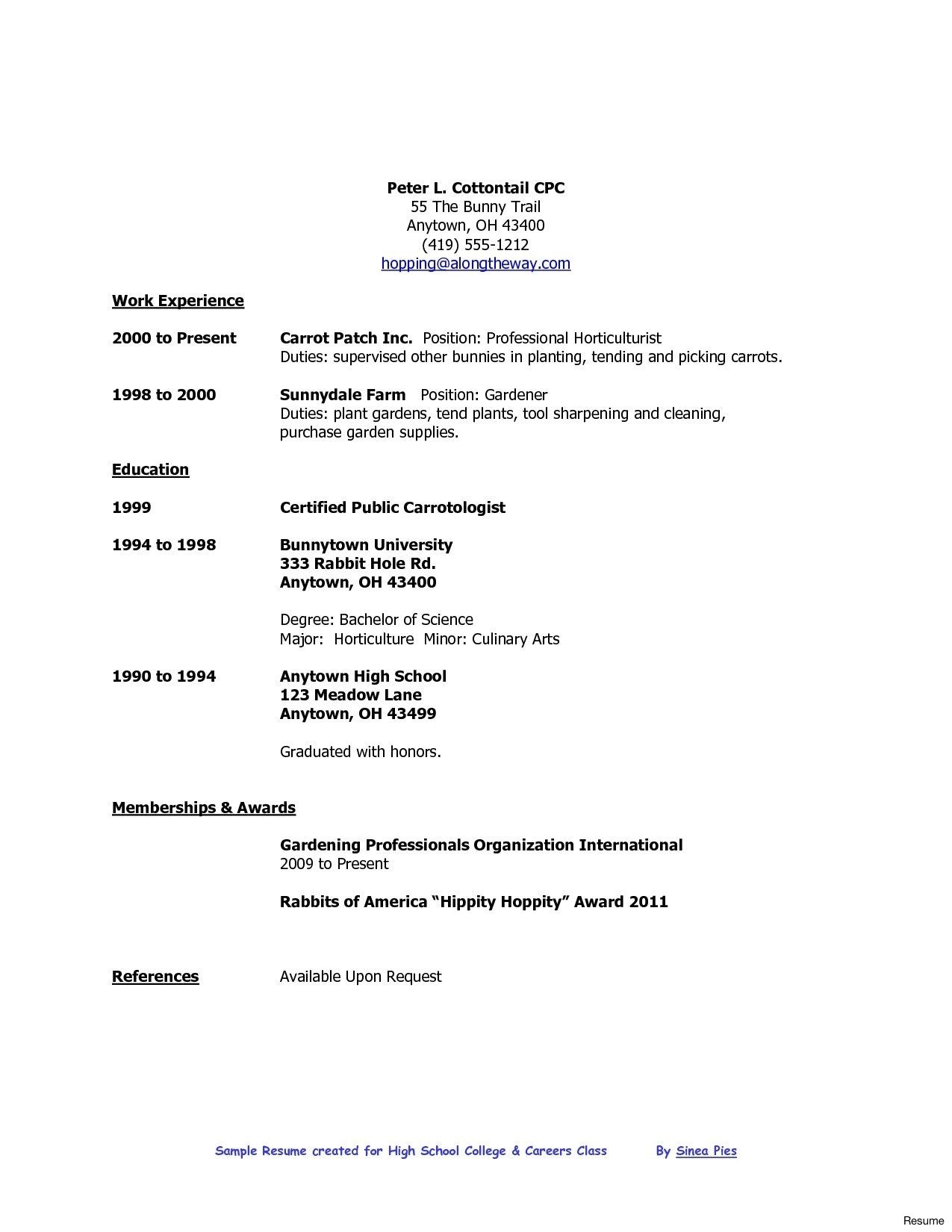 High School Graduate Resume Format Pinterest Sample Resume