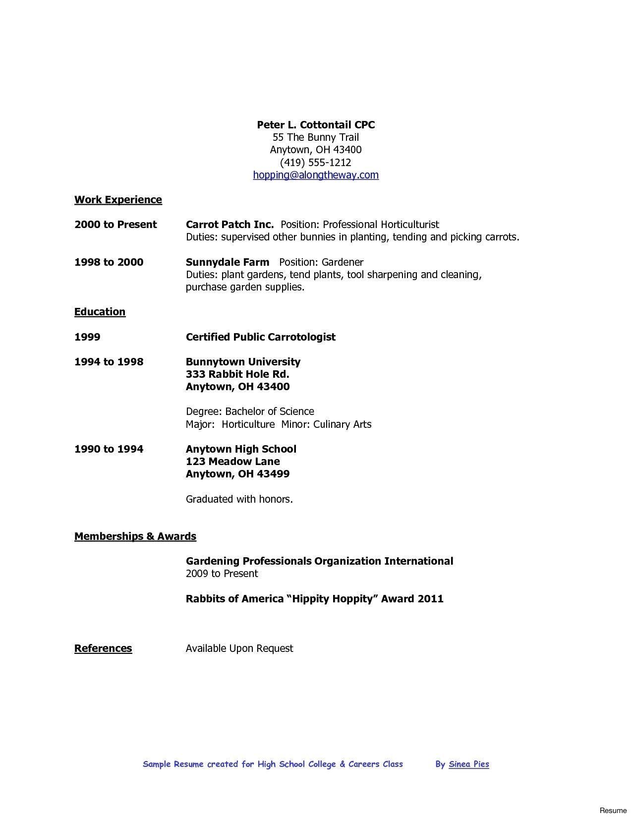 Resume Format High School Graduate , format graduate