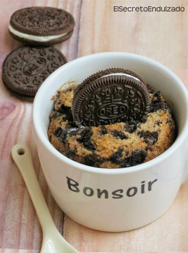 Mug Cake de Oreo / http://elsecretoendulzado.blogspot.com.es/