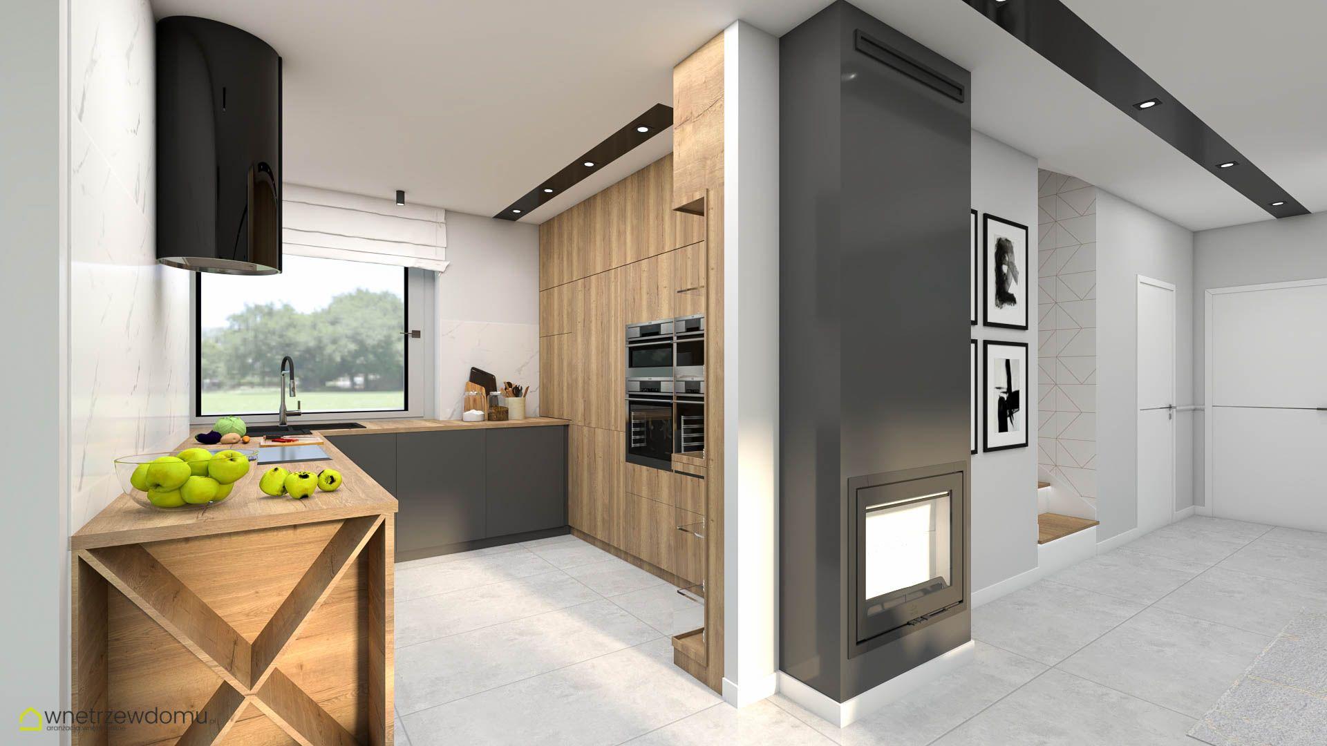 Kuchnia Drewno I Grafit Decor Home Decor Kitchen