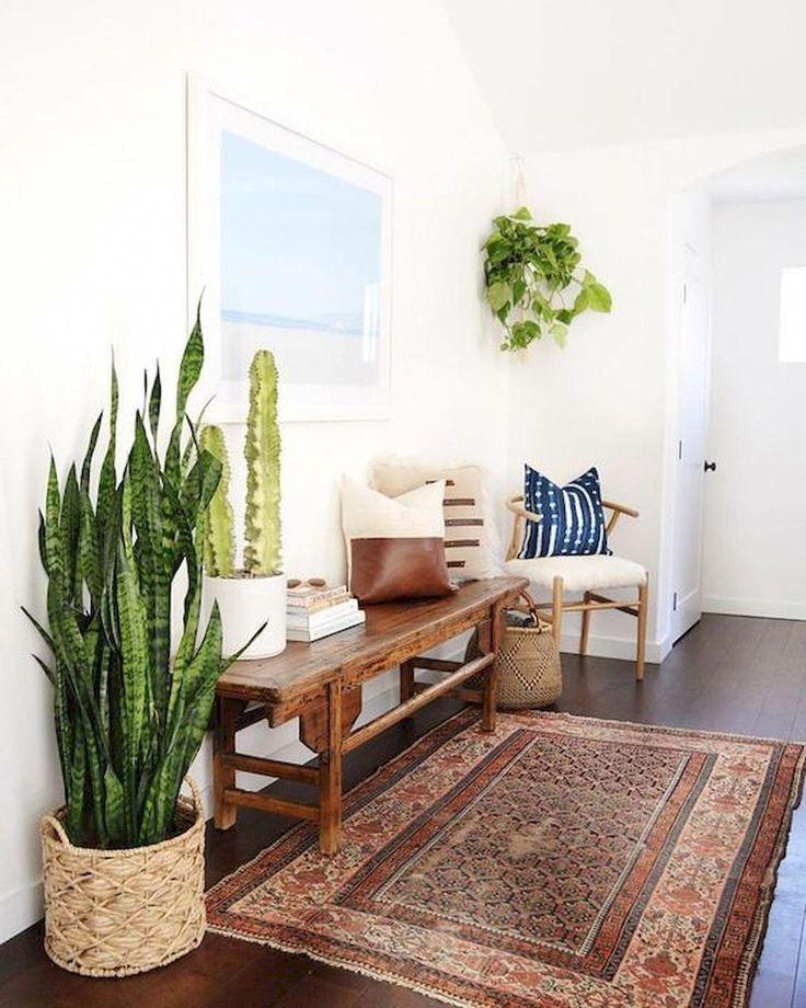 Plant-filled Entry Way Inspo #palnts #homedecorinspo #entryway