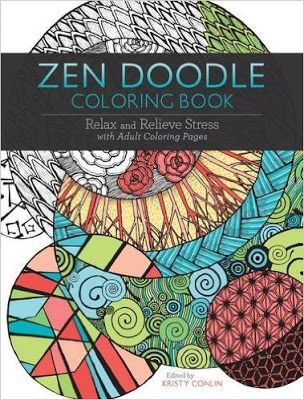 Relax and restore with Zen Doodle Coloring Book by Kristy Conlin!