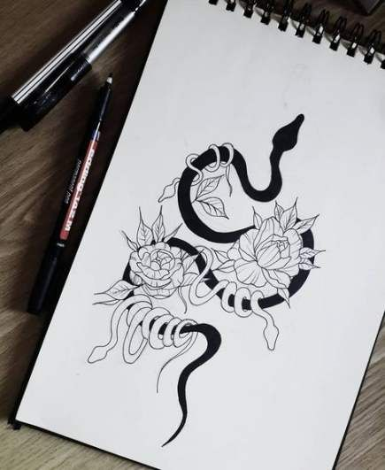 Tattoo Initials Mn: 68 Ideas Tattoo Rose Line Ink #tattoo
