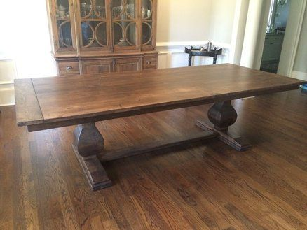 Maple Pedestal Dining Table Family Dining Table Craftsman