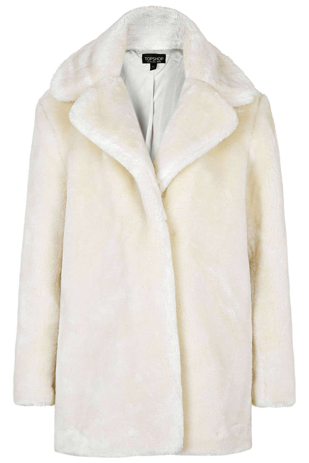 9c4a8be46f7 See what I'm loving on Topshop for iOS | Deri | Fur, White fur coat ...