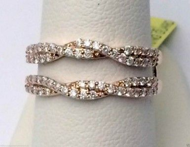 10kt Rose Gold Wave Design Solitaire Enhancer Diamonds Ring Guard Wrap Jacket (0.50ct. tw)...(RG221599860392).! Price: $458.99 #gold #diamonds #ringguard #wrap #enhancer #fashion #jewelry #love #gift