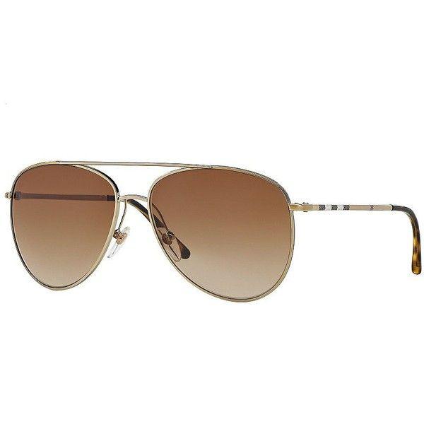 burberry 57mm aviator sunglasses