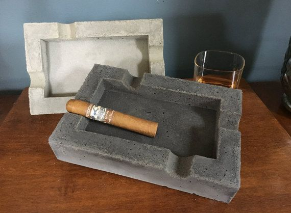 Handmade Concrete Cigar Ashtray Concrete Ashtray Cigar Ashtray Gifts For Men Gifts Anniversary Gift Birthday Gifts Groomsmen Gifts