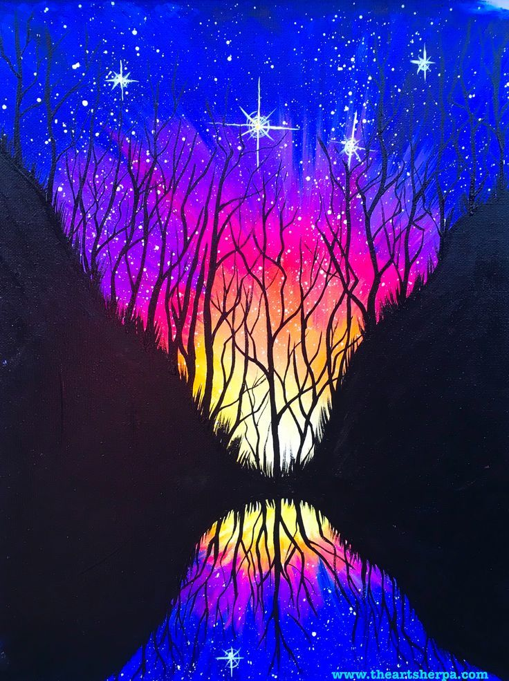 celestial mirror a galaxy painting fully guided step by step acrylic