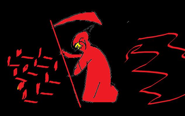 عزرائيل أو ملك الموت وهو من الملائكة الموكل إليه بقبض أرواح البشر وموتهم وتواجد هدا الرمز غالبا ما يسبب فزعا وهلعا في نفسية الحالم خاصة Darth Vader Darth Vader