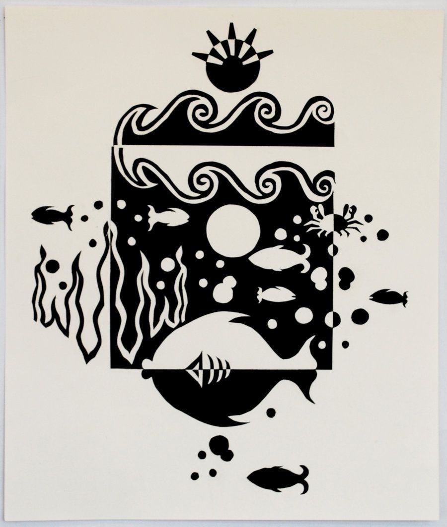 Under the sea notan by cheer123chick123 on deviantart for Negative space design