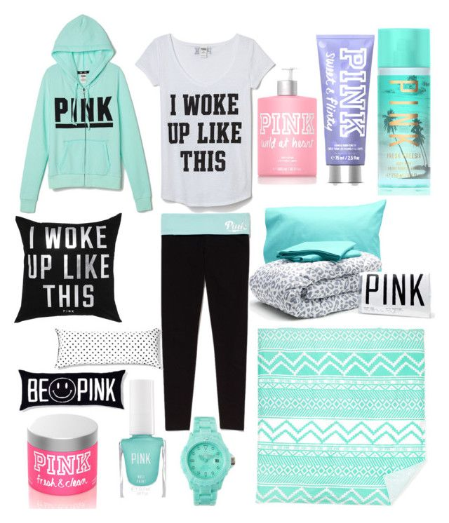 """Me waking up in the morning"" by monroehh ❤ liked on Polyvore featuring beauty, Victoria's Secret PINK and Toy Watch"