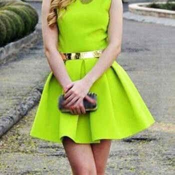 Chic lime dress