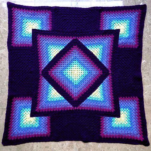 Crochet For Children Squared Diamond Granny Throw Free Pattern