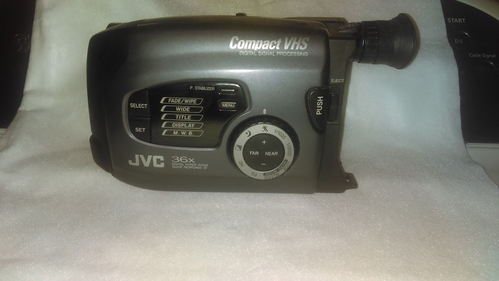 Jvc Compact Vhs Camcorder 36x Tested And Working Jvc Vhs Compact