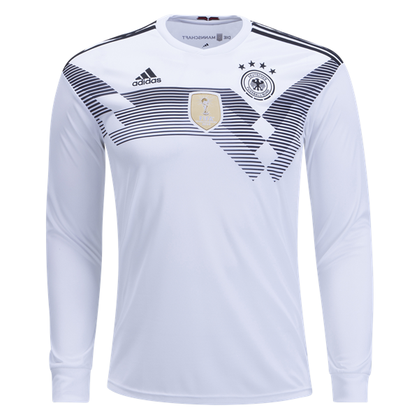 adidas Germany Long Sleeve Home Jersey 2018 | World cup