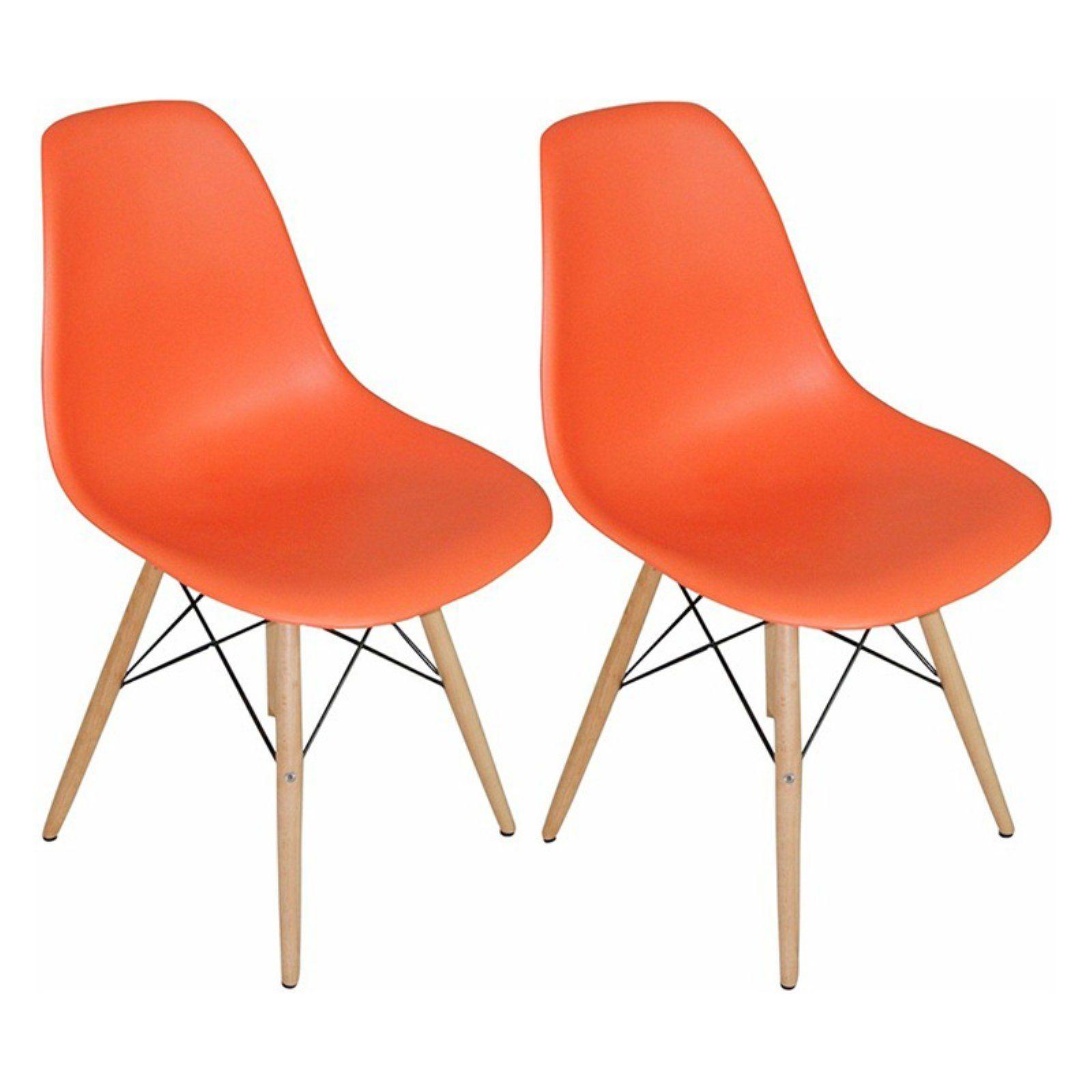 Mod Made Mid Century Modern Paris Tower Dining Side Chair Wood Leg