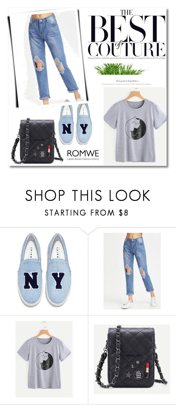 """Romwe 8"" by ajisa-ikanovic ❤ liked on Polyvore featuring Joshua's"