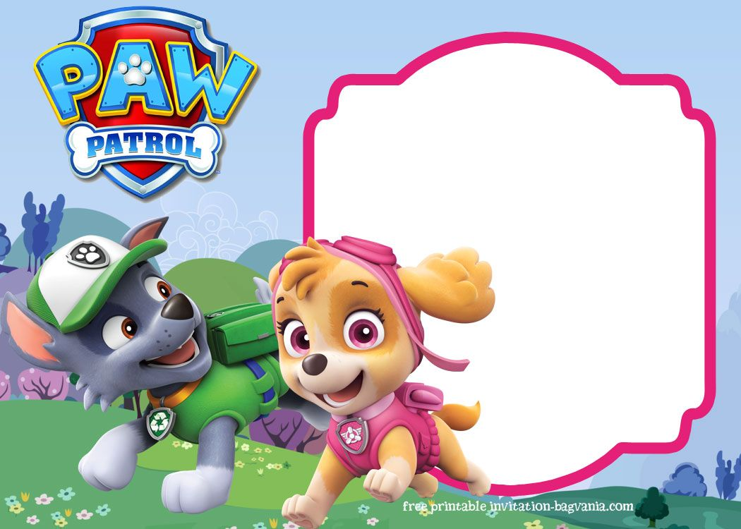 Paw Patrol Skye Invitation Template For Your Daughter S